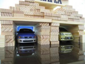 ブロック車庫